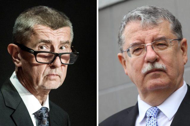 Premiér Andrej Babiš a Dušan Navrátil, exšéf Národního úřadu pro kybernetickou a informační bezpečnost