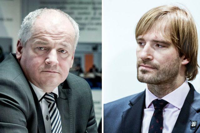 Náměstek ministra Roman Prymula a  ministr zdravotnictví Adam Vojtěch