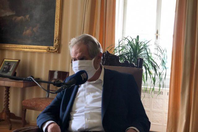 Prezident Miloš Zeman v pořadu 20 minut Radiožurnálu. Zpovídal jej Jan Pokorný.