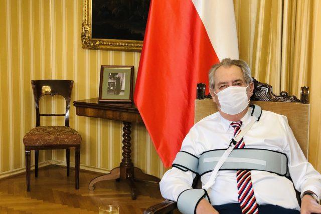 Prezident Miloš Zeman při projevu k národu