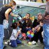 Uprchlíci na vídeňském nádraží