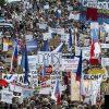 Demonstrace pořádaná Milionem chvilek pro demokracii na Václavském náměstí.