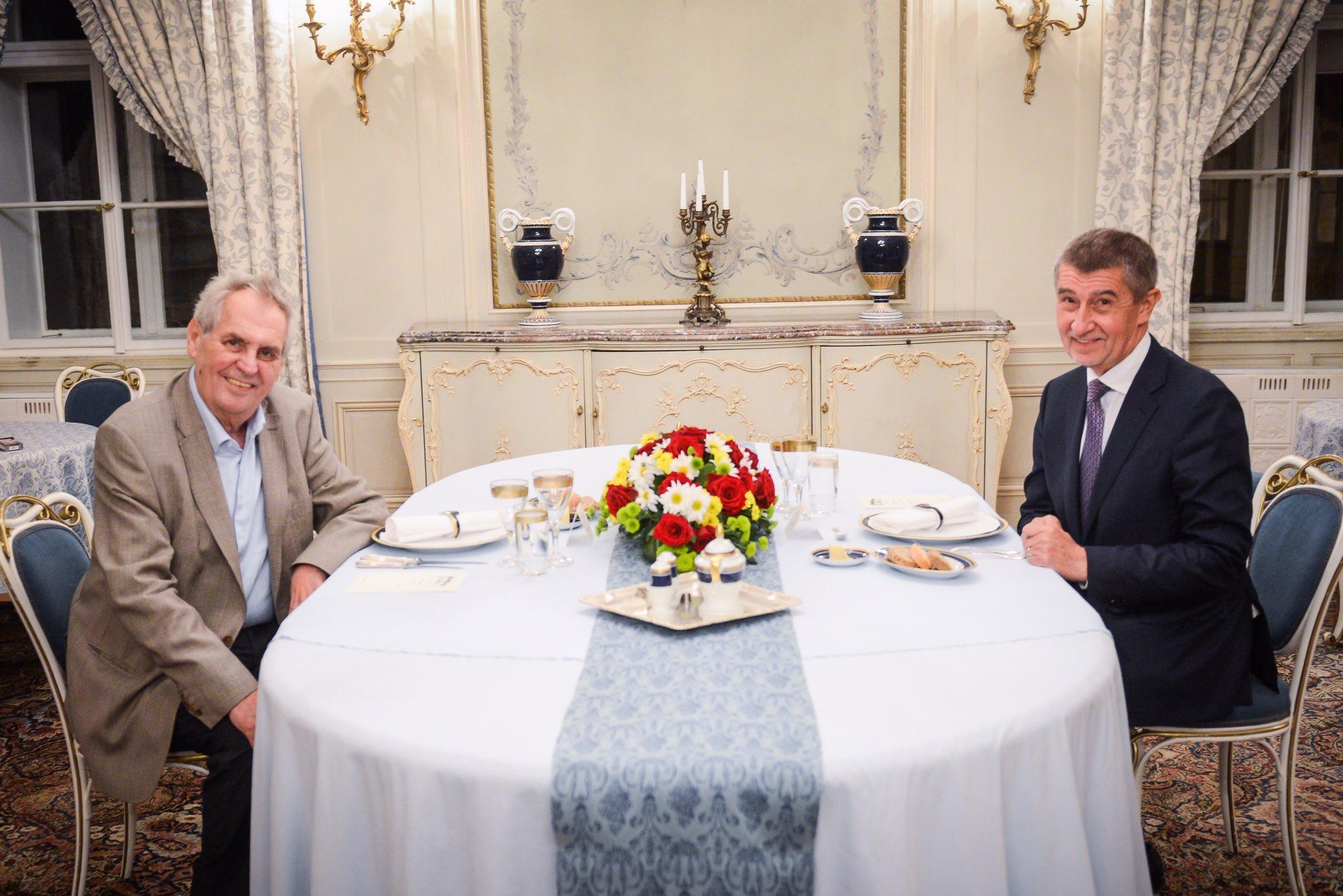 Prezident Miloš Zeman a premiér Andrej Babiš v Lánech.