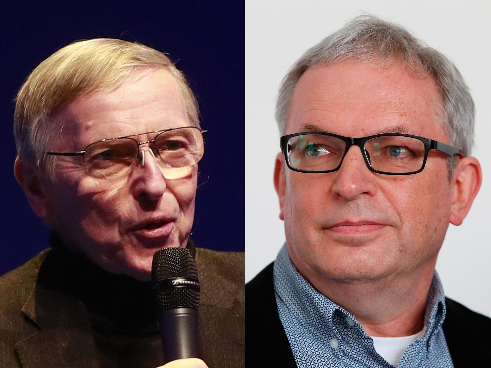Vlevo Jan Jarolím - starosta Prahy 9 (ODS) a scenárista David Smoljak (za Starosty).