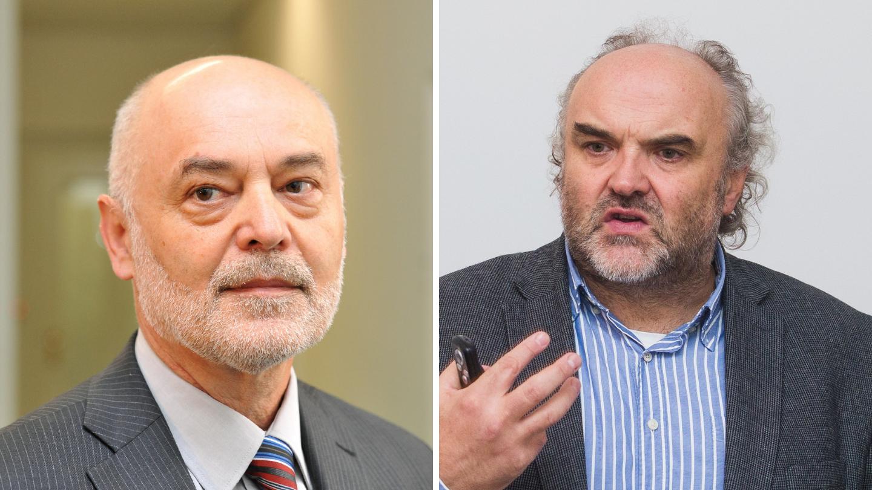 Fyzik Ivan Ošťádal (vlevo) a umělecký historik Jiří Fajt