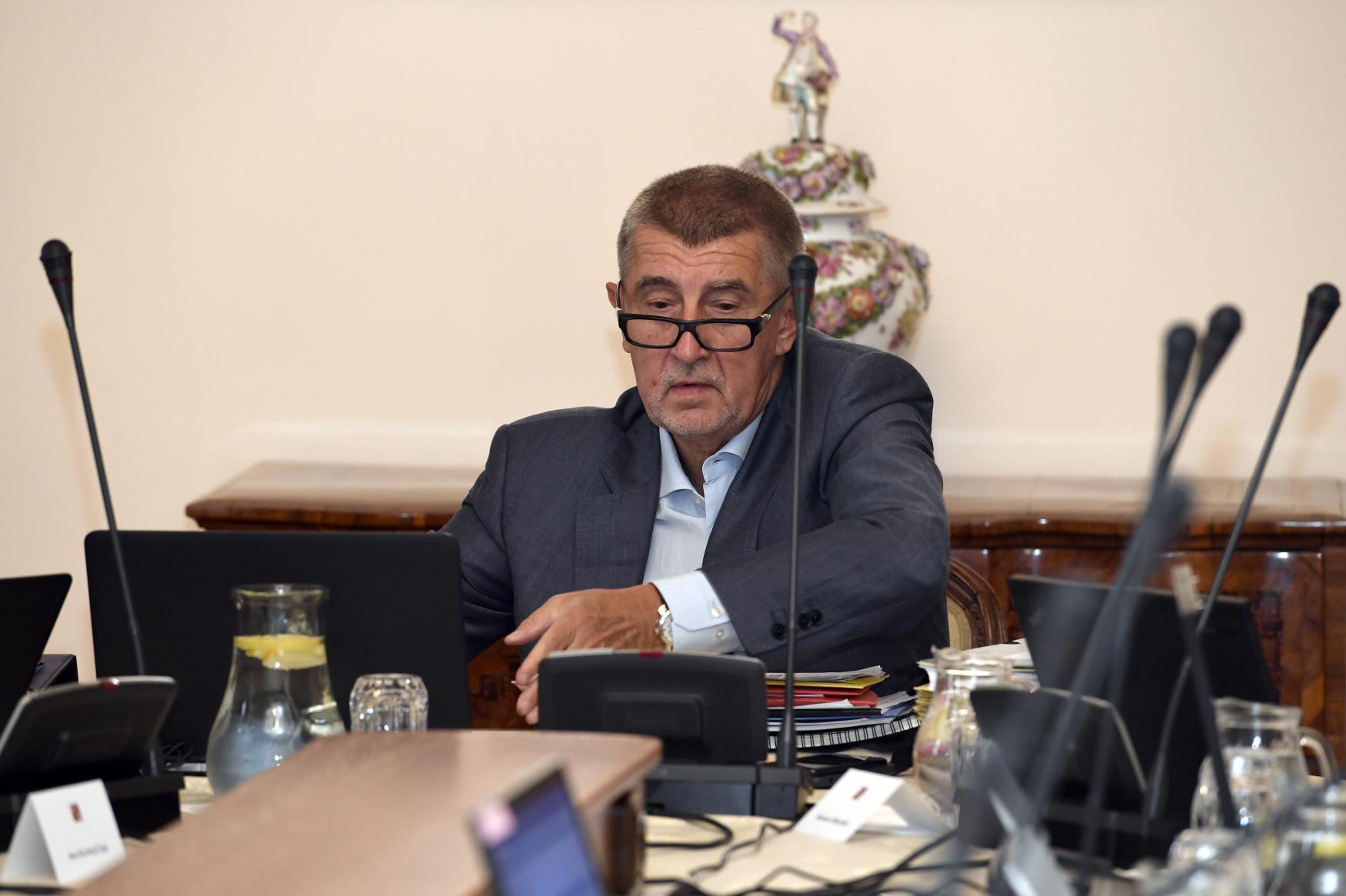 Předseda vlády Andrej Babiš z hnutí ANO.
