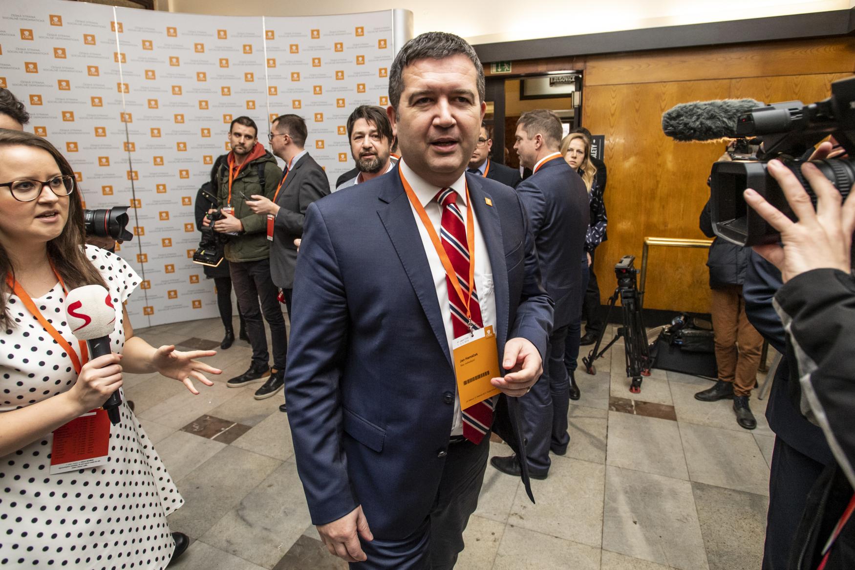 Předseda sociálních demokratů Jan Hamáček