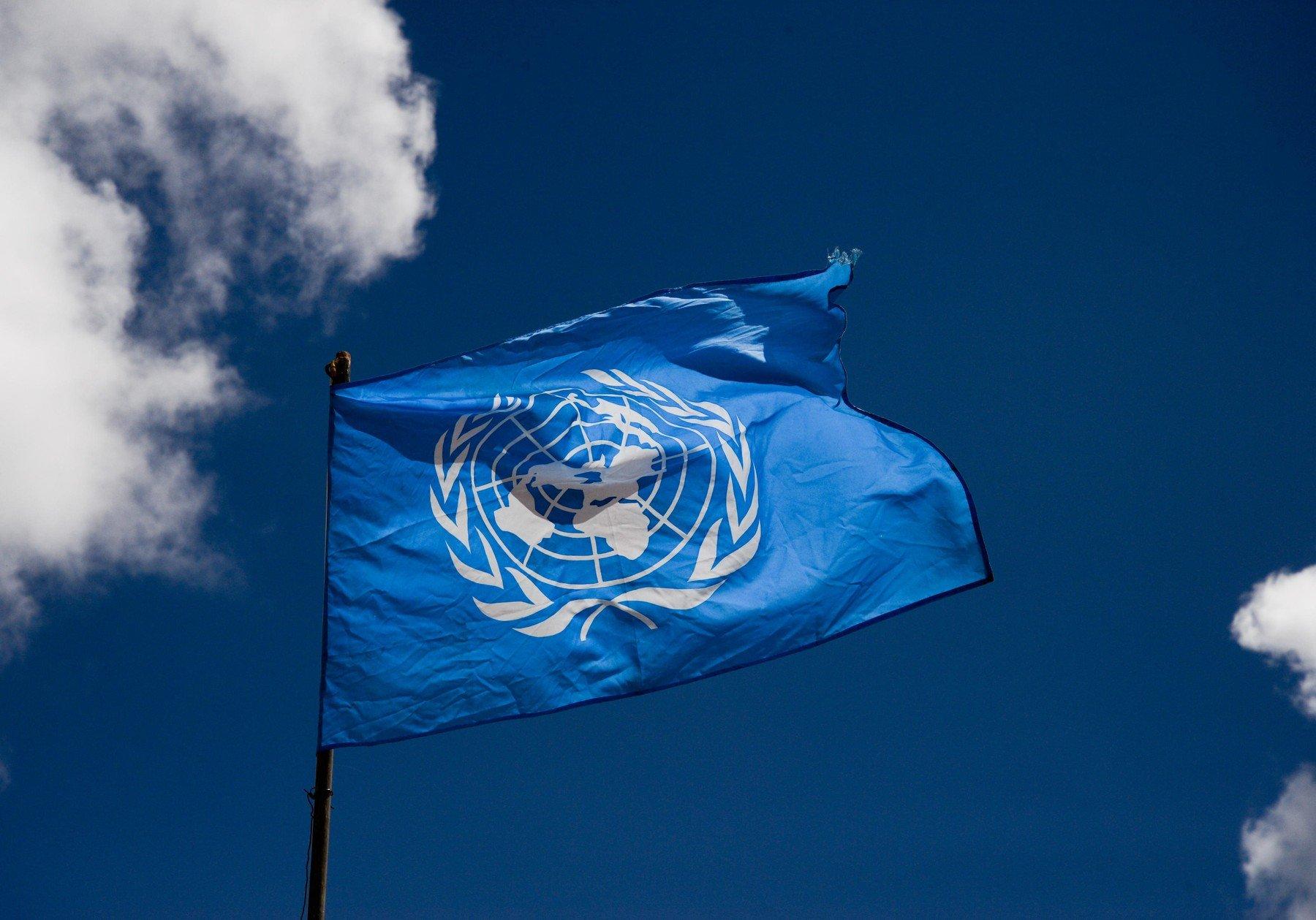 Vlajka OSN. Ilustrační foto.