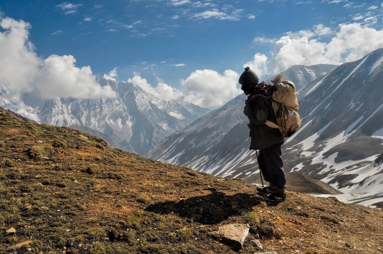 Šerpa v Himaláji (ilustrační snímek).