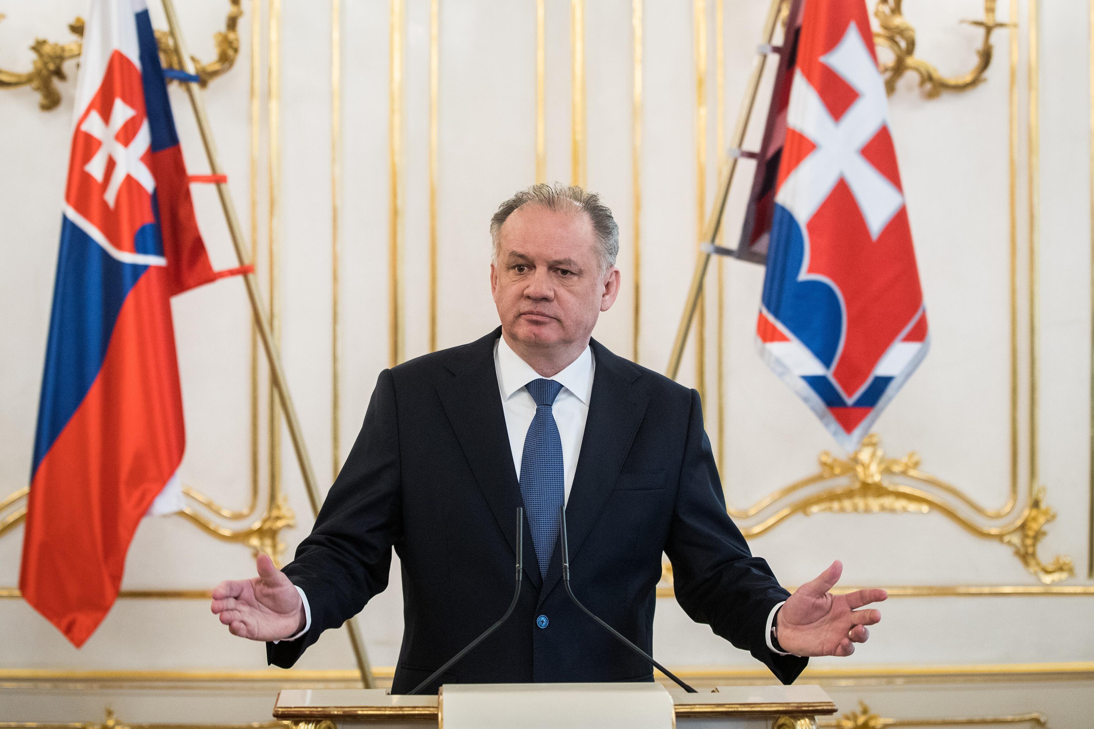 Slovenský prezident Andrej Kiska na snímku z března 2018.