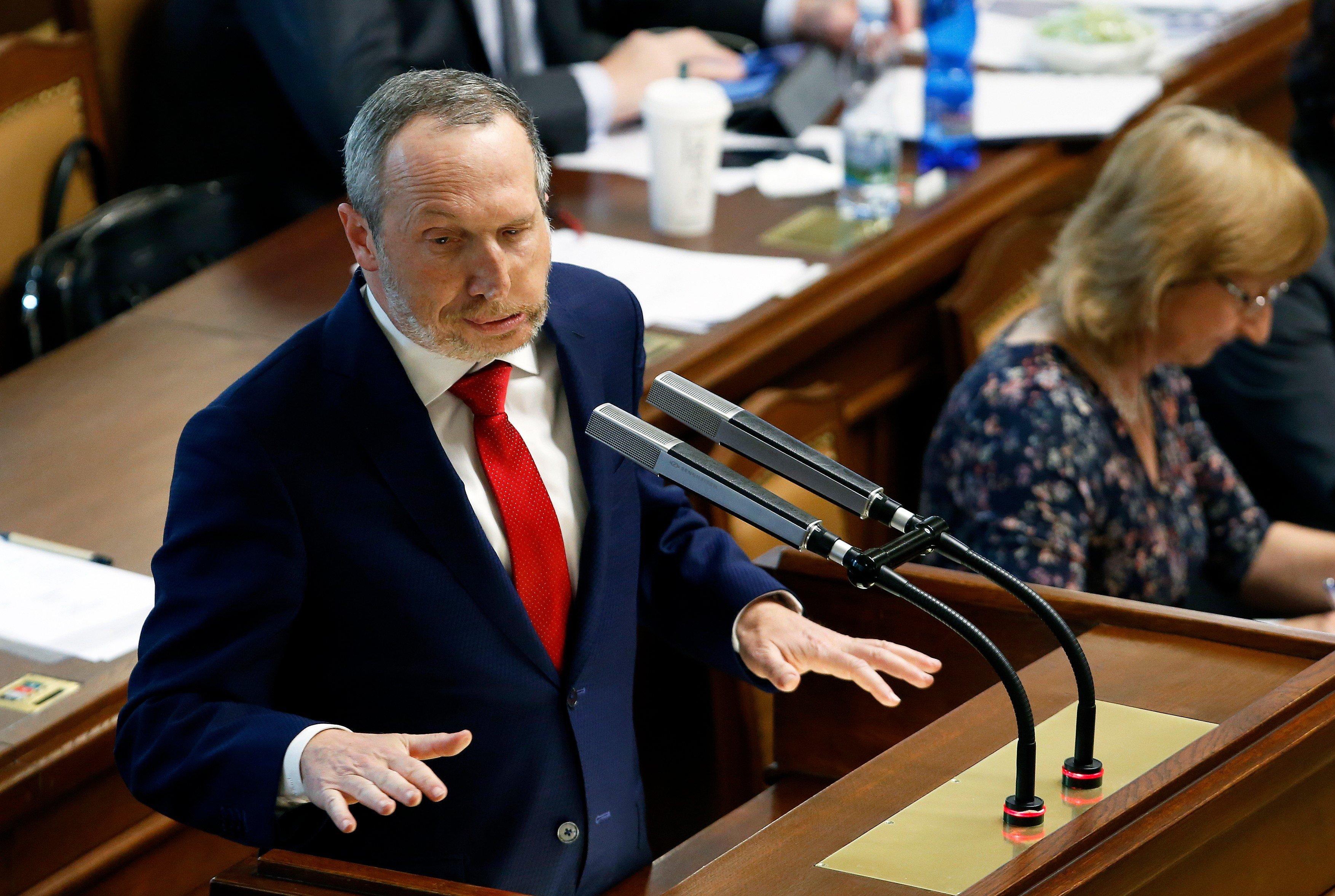 Václav Klaus mladší z ODS během jednání Poslanecké sněmovny