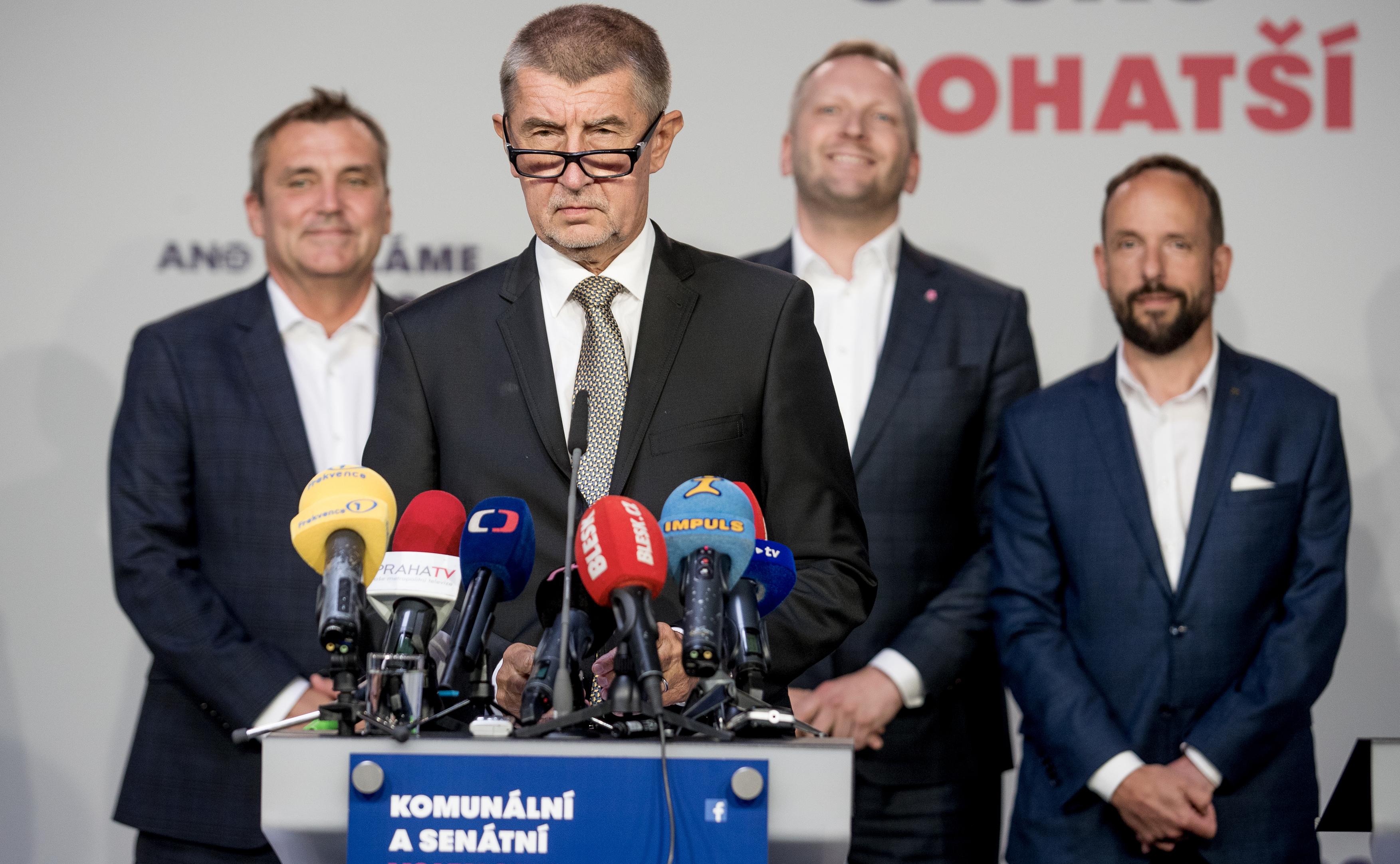Premiér a šéf hnutí ANO Andrej Babiš během zahájení předvolební kampaně pro komunální volby