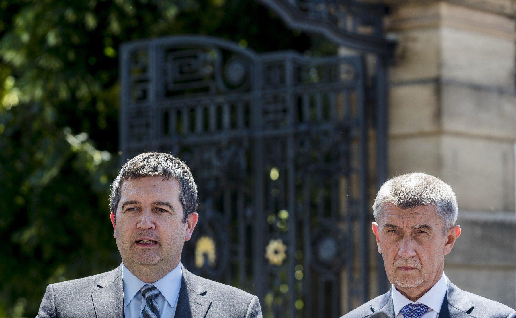Šéf ČSSD Jan Hamáček a premiér Andrej Babiš (ANO)