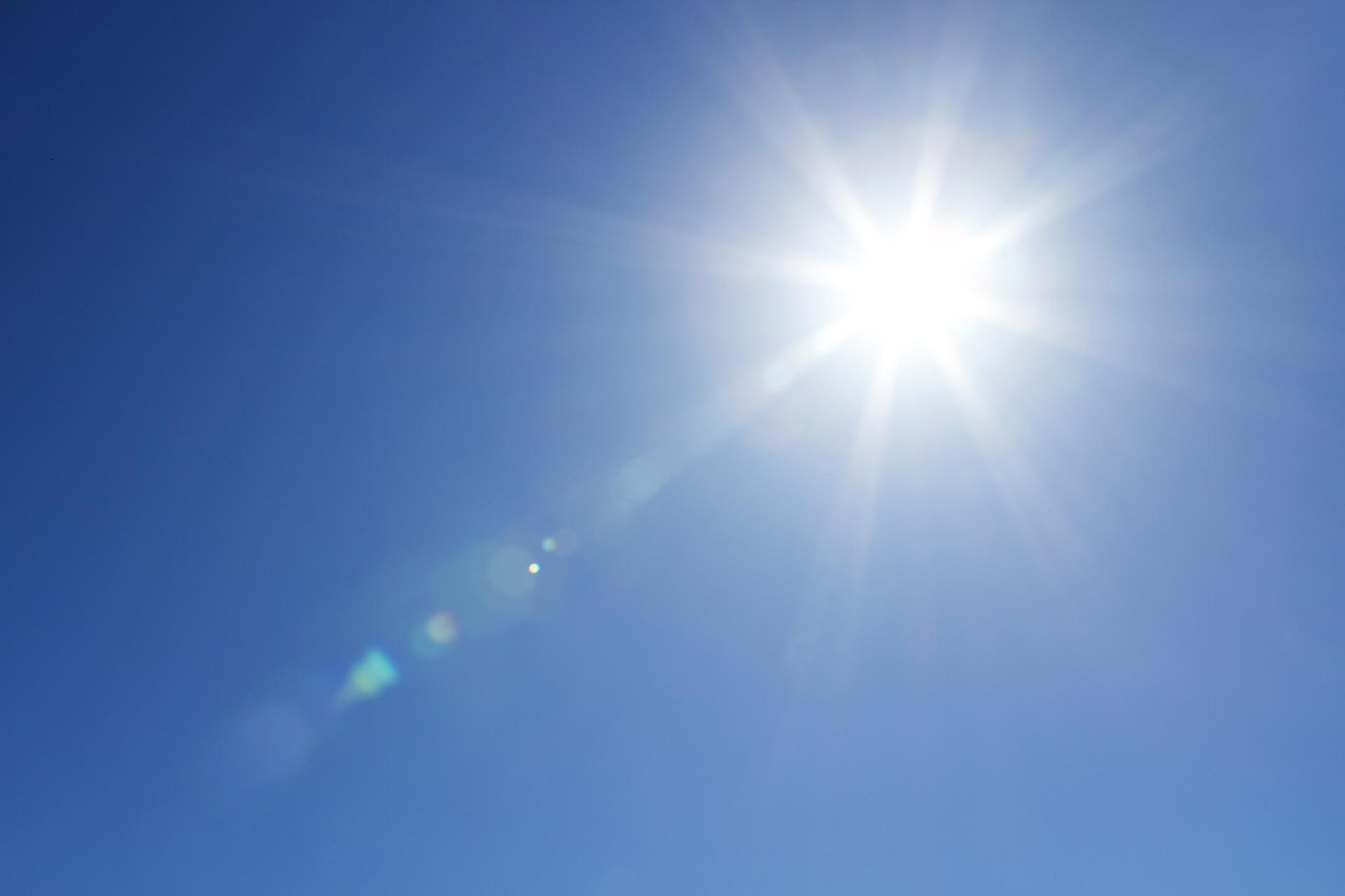 Slunce, klimatické změny, globální oteplování (ilustrační foto)