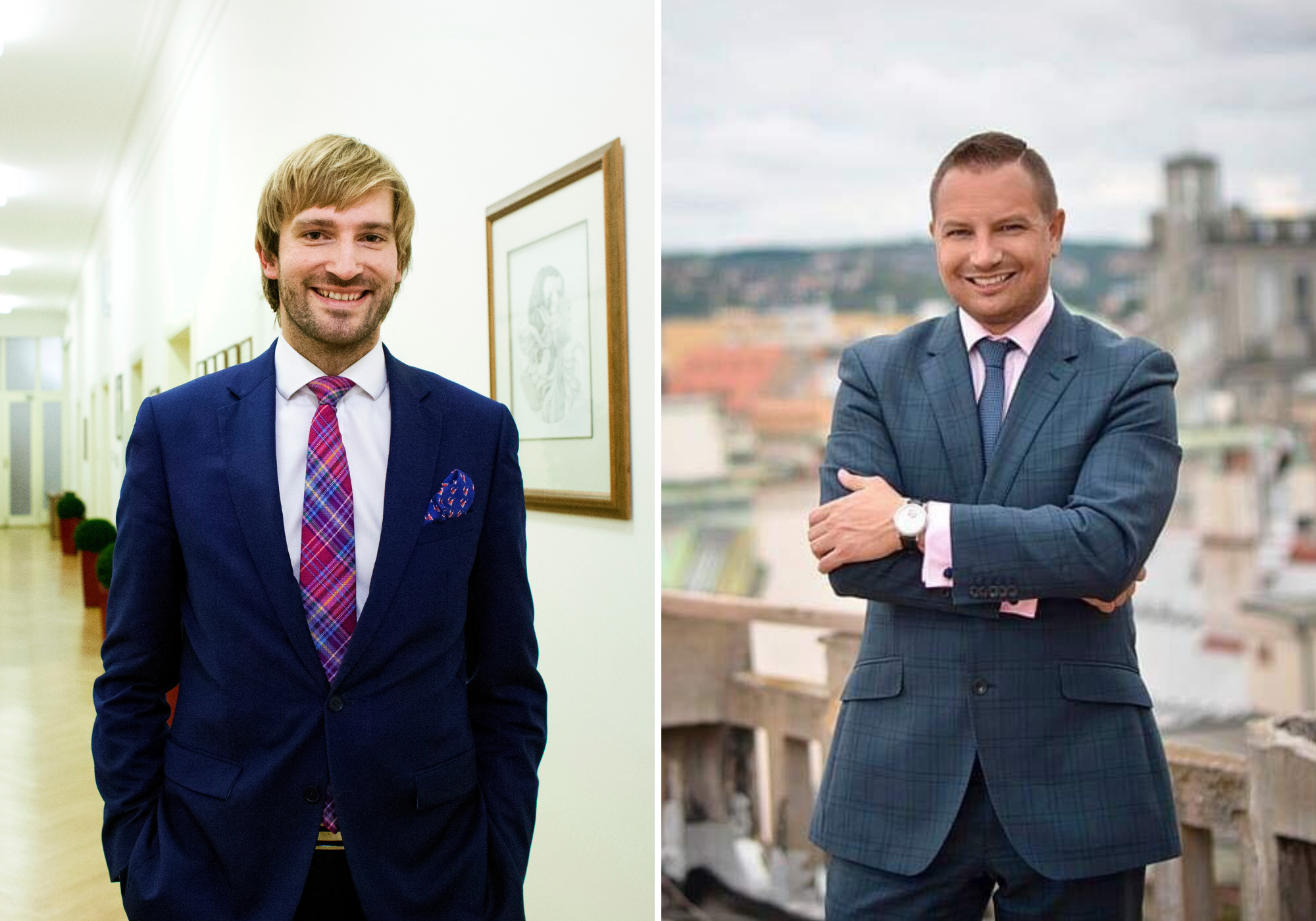Ministr zdravotnictví Adam Vojtěch (ANO) a lobbista Tomáš Horáček (vpravo).