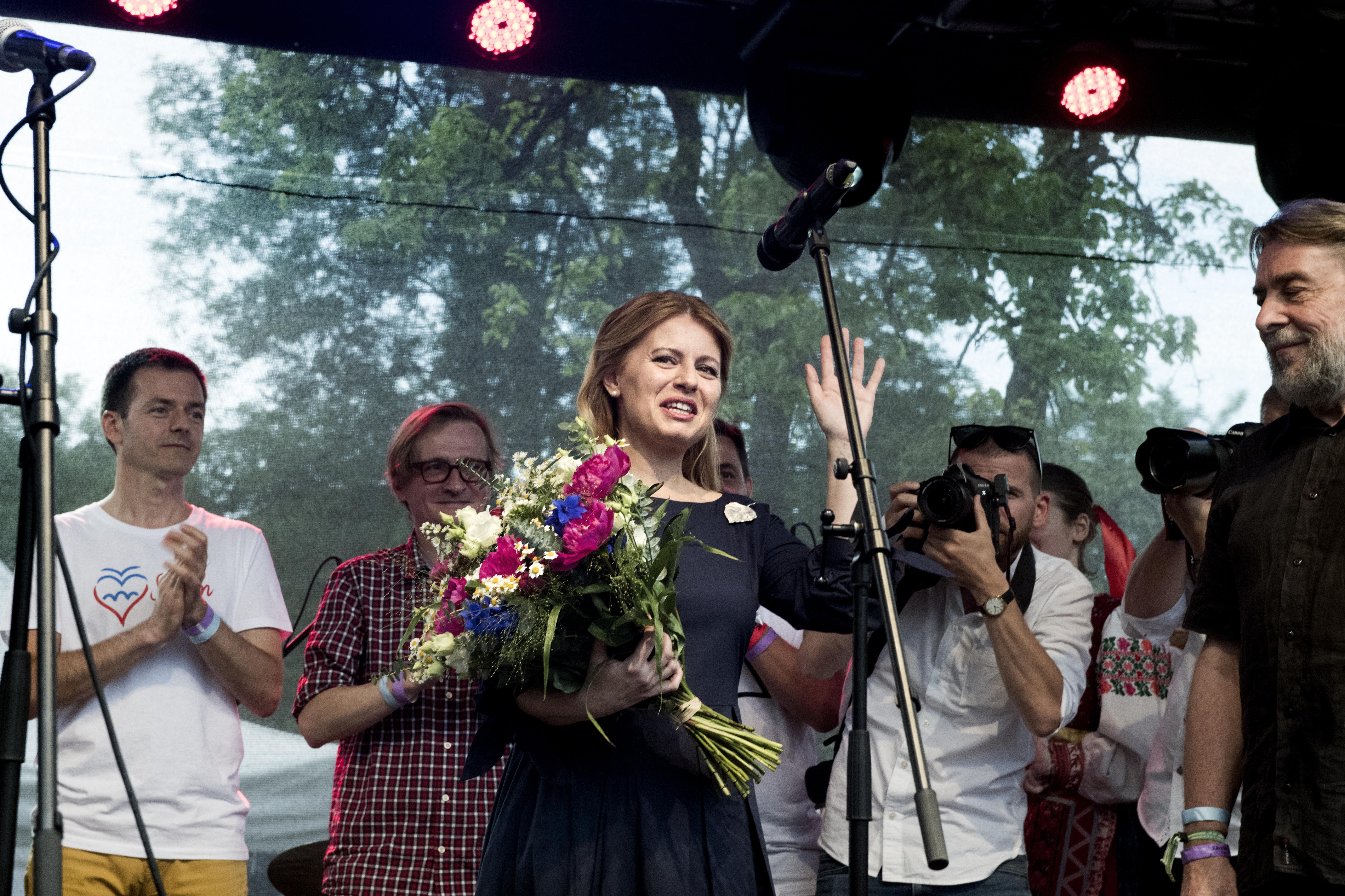 Koncert na Kampě pro novou slovenskou prezidentku Zuzanu Čaputovou
